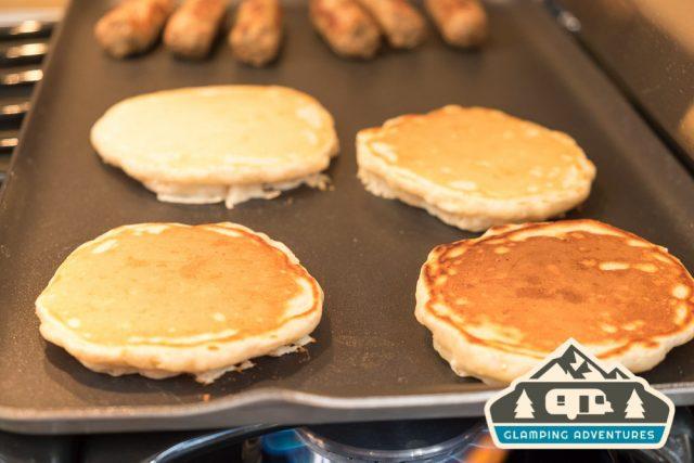 Sausage and pancakes!